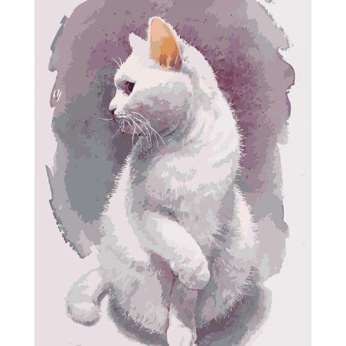 """Картина по номерам """"Нежный кот"""" ★★★★ (кот, кошка, животные)"""