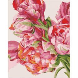 """Алмазная вышивка """"Своенравные пионы"""" (цветы, пион, цветок)"""