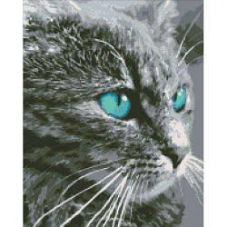 """Алмазная вышивка """"Небесный взгляд"""" (кот, кошка, взгляд)"""
