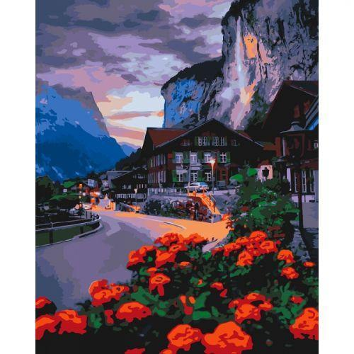 "Картина по номерам Идейка ""Лето в Швейцарии"" 40х50см КНО2262"