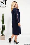 Элегантное стильное платье прямого силуэта большого размера :  52-54, 56-58, 60-62, 64-66, фото 3