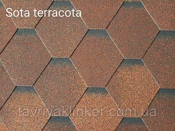 Бітумна черепиця RUFLEX Sota Теракота, 3м2