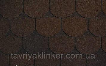 Бітумна черепиця RUFLEX Ornami Темний шоколад, 3м2