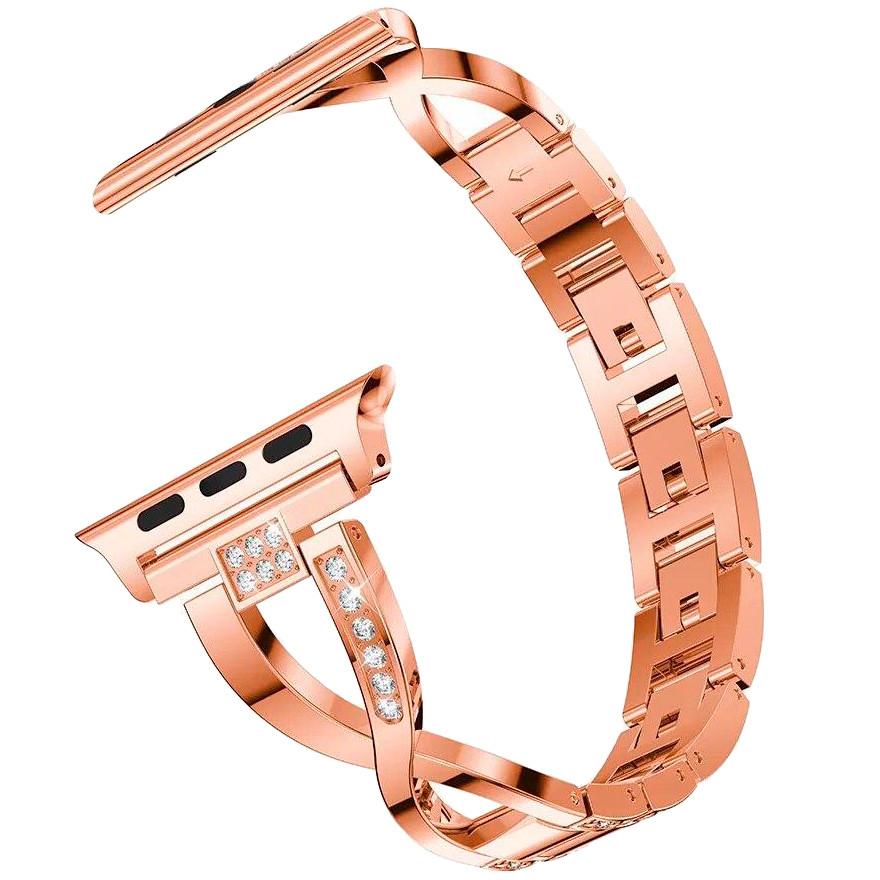 Ремешок Apple watch металлический 42/44 mm Розовое золото