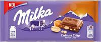 Молочный шоколад Milka Peanut Crisp, 100 г