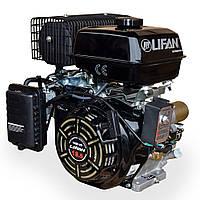 Газ-бензиновый двигатель Lifan LF192F-2D (18 л.с., вал шпонка 25 мм, ел. запуск)