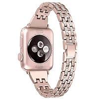 Металлический ремешок-браслет Apple watch 42/44 mm Розовое золото