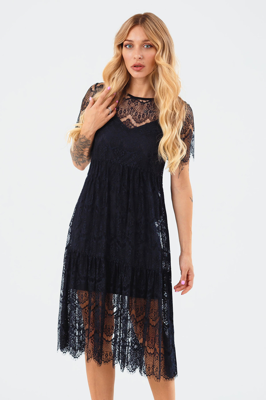 Жіноча мереживна сукня двійка Starla, чорне
