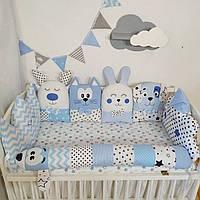 Бортики звірятка в ліжечко (защита в детскую кроватку)