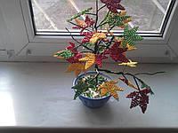 Дерево из бисера (Осенний Клен)