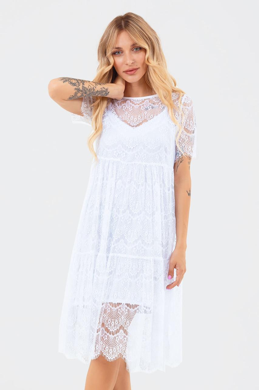 Жіноча мереживна сукня двійка Starla, біле