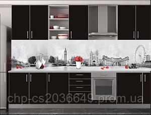 Скинали Лондон - Стеклянный кухонный фартук Лондон