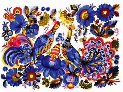 Картина по номерам Петриківський розпис 2, 30x40 см., ArtStory