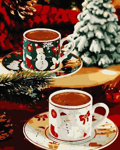 Картина по номерам Різдвяний напій, 40x50 см., ArtStory