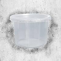 Одноразовая герметичная упаковка для первых блюд ПС-115 500 мл прозрачная 500 шт/уп