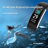 Фитнес браслет здоровье с тонометром давление крови F07 max смарт кардио часы пульсоксиметр калории трекер сна, фото 2