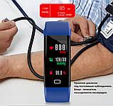 Фитнес браслет здоровье с тонометром давление крови F07 max смарт кардио часы пульсоксиметр калории трекер сна, фото 3