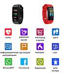 Фитнес браслет здоровье с тонометром давление крови F07 max смарт кардио часы пульсоксиметр калории трекер сна, фото 4