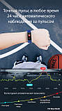 Часы с тонометром давление крови F07 max фитнес браслет здоровье iPhone Android трекер пульсометр калории сон, фото 7