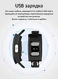 P3 Фитнес браслет тонометр давление крови ЭКГ кардио пульсометр для iPhone Android с HD дисплеем черно красный, фото 4