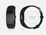 P3 Фитнес браслет тонометр давление крови ЭКГ кардио пульсометр для iPhone Android с HD дисплеем черно красный, фото 7