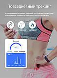 P3 Фитнес браслет тонометр давление крови ЭКГ кардио пульсометр для iPhone Android с HD дисплеем черно красный, фото 8