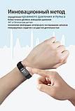 P3 Фитнес браслет тонометр давление крови ЭКГ кардио пульсометр для iPhone Android с HD дисплеем черно красный, фото 9
