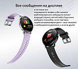 Фитнес браслет V11 тонометр давление крови закаленное стекло умные часы пульсометр водонепроницаемый трекер, фото 9