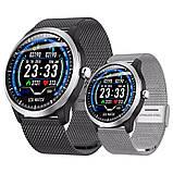 N58 смарт часы тонометр давление крови ЭКГ кардио пульсомер трекер для Android iPhone фитнес браслет серебро, фото 9