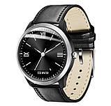 N58 смарт часы тонометр давление крови ЭКГ кардио пульсомер фитнес трекер iPhone и Android кожаный браслет, фото 3