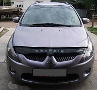 Дефлектор капота (мухобойка) Mitsubishi Grandis 2003-2011