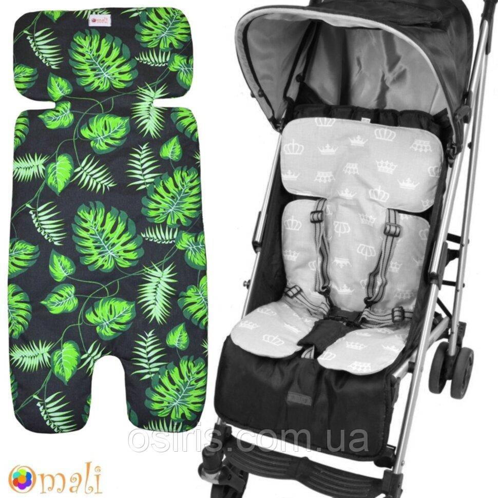 Вкладыш - матрасик в детскую коляску и автокресло «Uni» (Дизайн 40)