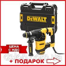 Перфоратор сетевой DeWALT D25333K, SDS-Plus, 950 Вт, 3.5 Дж, 3 режима, чемодан, вес 3.7 кг