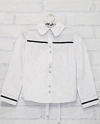 Блузка школьная с длинным рукавом для девочки, DaNaKids (размер 140)