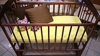 Кровать детская Наталка с маятником (ясень тёмный)