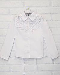 Блузка школьная с длинным рукавом для девочки DaNaKids (размер 146)