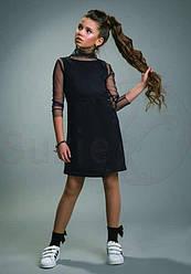 Сарафан школьный для девочки, модель Мелада,  черный, SUZIE (размер 146)