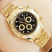 Часы мужские наручные Rolex Daytona Men Gold/Black