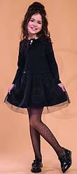 Платье школьное с длинным рукавом для девочки, модель Беатрис, SUZIE (размер 122)