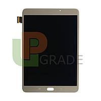 Дисплей Samsung T710 Galaxy Tab S2 8.0, версия Wi-Fi с тачскрином (модуль), золотистый, Amoled, оригинал