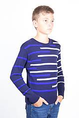 Светр для підлітка вовняної TAIKO 40 41 42 43 44 синій