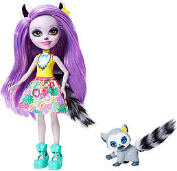 Кукла Энчантималс Лемур Лариса Enchantimals Larissa Lemur Doll