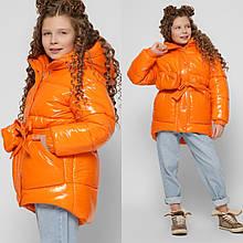 Стильна зимова куртка на дівчинку DT-8300, р-ри 110-134