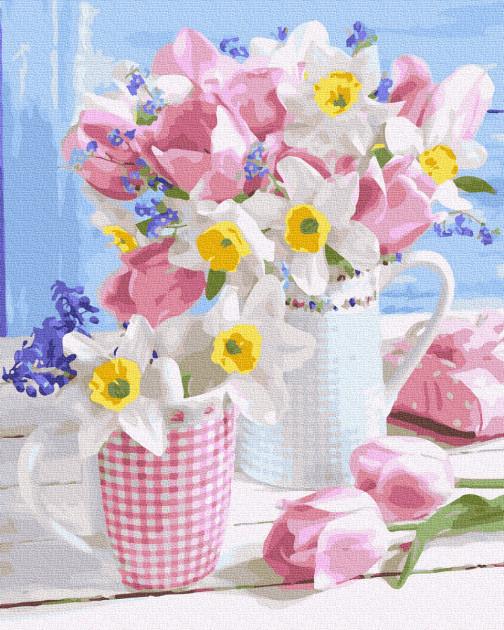 "Картина по номерам Rainbow Art ""Весенние цветы"" 40х50 см GX36058-RA"