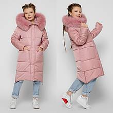 Стильне зимове пальто на дівчинку DT-8304, р-ри 28,30,32