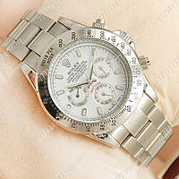 Часы мужские наручные Rolex Daytona Men Silver/White