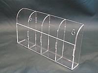 Прозорий акриловий тримач для будинку на 4 відділу настінний, фото 1