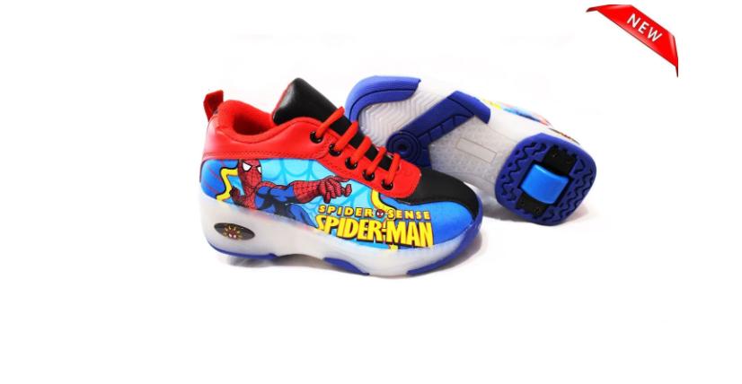 Кроссовки с роликом на пятке Spider Man
