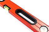 Уровень строительный STAR TOOL 1000 мм, окрашенный, 3 капсулы, 2 ручки, фото 2