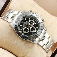 Часы мужские наручные Rolex Daytona Men Silver/Black